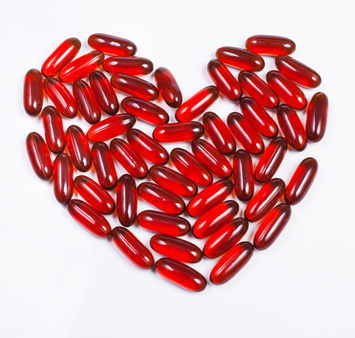 Heart-shaped from capsules of lecithin